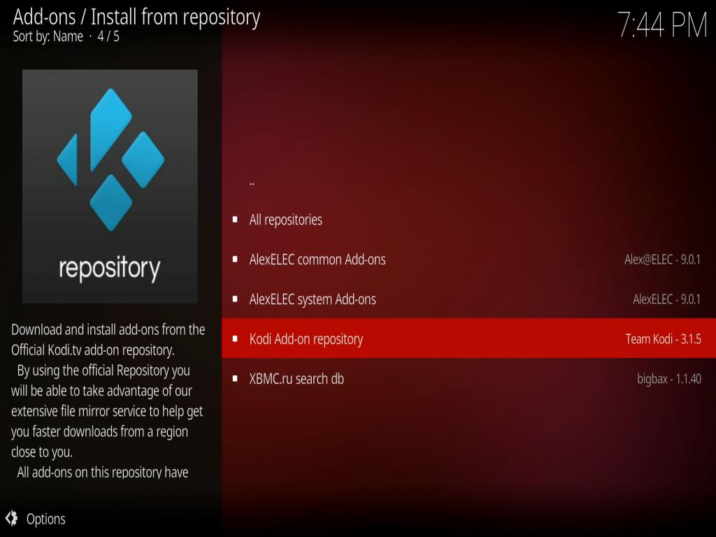Install Kodi Addon from Kod Repository